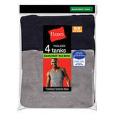 Hanes Mens TAGLESS Ribbed A-Shirt 4-Pk 392P4