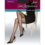 Hanes Silk Reflections Sheer Geo Dot Control Top Sheer Toe Pantyhose 0B253