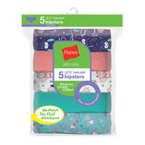 Hanes Ultimate Girls' Cotton Stretch Hipsters 5-Pack GUCSHP