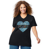 Just My Size Dreaming Heart Short Sleeve Graphic Tee GTJ181 Y07190