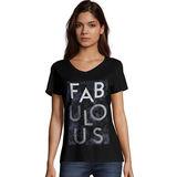 Hanes Women's Fabulous Short Sleeve V-Neck Tee GT9337 Y06750