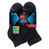 Hanes Men's FreshIQ X-Temp Active Cool Ankle Socks 12-Pack AC1612