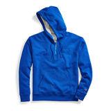 Champion Men's Powerblend Fleece Quarter Zip Hoodie, Embroidered Logo