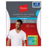 Hanes Men's Fresh IQ Cotton/Modal V-Neck Undershirt 3-Pack 7777M3