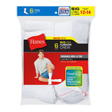 Hanes Men's Big & Tall Cushion Crew Socks 6-Pack 144/6
