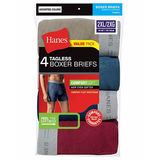 Hanes Men's TAGLESS 2XL Boxer Briefs with Comfort Flex Waistband 4-Pack 7349C4