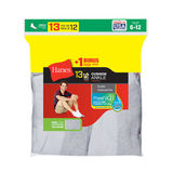 Hanes Men's Cushion Ankle Socks 13-Pack (Includes 1 Free Bonus Pair) 186V13