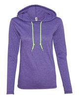 Anvil Women's Lightweight Long Sleeve Hooded T-Shirt 887L