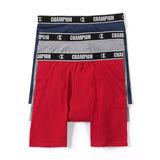 Champion Men's Cotton Performance Long Leg Boxer Briefs 3-Pack