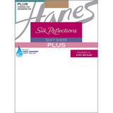 Hanes Silk Reflections Plus Size Sheer Control Top Enhanced Toe Pantyhose P16