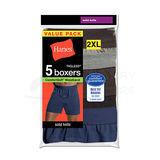 Hanes Mens TAGLESS ComfortSoft Knit Boxers with ComfortSoft Waistband 2X 5-Pk MKCBX5B