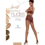 Hanes Perfect Nudes Sheer Micro Net Girl Short Tummy Control Hosiery PN0003