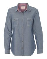 Weatherproof Vintage Women's Chambray Long Sleeve Shirt W154885