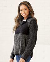 Boxercraft Women's Quilted Fuzzy Fleece Pullover FZ06