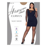 Hanes Curves Silky Sheer Control Top Legwear HSP002