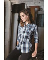 Weatherproof Vintage Women's Plaid Long Sleeve Shirt W154680