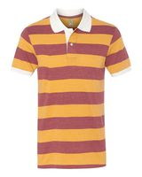 Alternative Eco-Jersey Ugly Stripe Short Sleeve Polo 1905