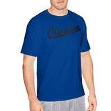 Champion Men's Jersey Tee, Baseball Script Logo GT280 Y07032