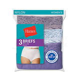 Hanes Womens Plus Nylon Brief 3-Pk D70LAS