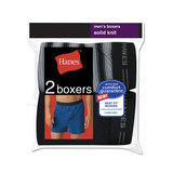 Hanes Mens Exposed Waistband Knit Boxer 2-PK 548KP2