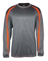 Badger Pro Heather Fusion Long Sleeve T-Shirt 4350