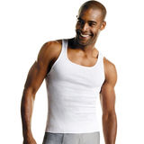 Hanes Men's TAGLESS® ComfortSoft® White A-Shirt 6-Pack 372AP6
