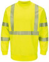 Bulwark Hi-Visibility Crewneck Fleece Sweatshirt - Long Sizes SMC4HVL