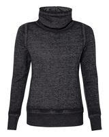 J. America Vintage Zen Fleece Women's Cowl Neck Sweatshirt 8930