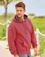 Fruit of the Loom Sofspun Microstripe Hooded Pullover Sweatshirt SF77R