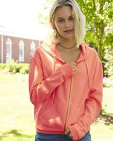 Comfort Colors Garment-Dyed Women's Full-Zip Hooded Sweatshirt 1598