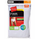 Hanes Men's TAGLESS No Ride Up Briefs with Comfort Flex Waistband 7-Pack (2X-3X) 2252X7