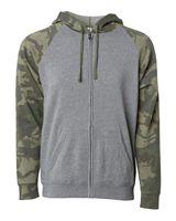Independent Trading Co. Unisex Special Blend Raglan Hooded Full-Zip Sweatshirt PRM33SBZ