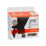 JMS Sheer Toe Knee High 4-PK 88600