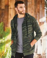 Burnside Camo Full-Zip Hooded Sweatshirt 8615
