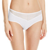 Vanity Fair Beautifully Smooth Lace Cotton Hip Brief # 18129