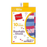 Hanes Girls' Breathable Stretch Briefs 10-Pack GSTB10