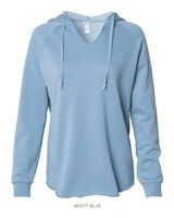 Independent Trading Co. Women's Lightweight California Wavewash Hooded Pullover Sweatshirt PRM2500