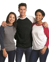 Next Level Unisex Tri-Blend Three-Quarter Sleeve Baseball Raglan Tee 6051