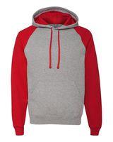 Jerzees Nublend Colorblocked Raglan Hooded Sweatshirt 96CR