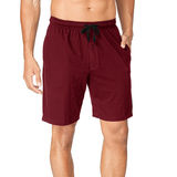 Hanes Men's Jersey Lounge Drawstring Shorts with Logo Waistband 2-Pack 01005