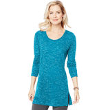 Hanes Women's Essentials Lightweight Space-Dye Vented Tunic O9300
