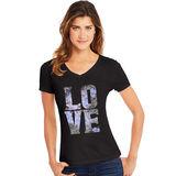 Hanes Women's Big Love Short Sleeve V-Neck Tee GT9337 Y06917