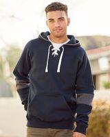 J. America Sport Lace Colorblocked Fleece Hooded Sweatshirt 8832