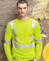 Red Kap High Visibility Long Sleeve Safety T-Shirt SYK2HV