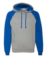 Jerzees Nublend Colorblocked Raglan Hooded Sweatshirt 96CR