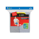 Hanes Men's Grey Cushion Crew Socks 6-Pk 185/6