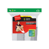 Hanes Men's Cushion Ankle Socks 6-Pack 186/6