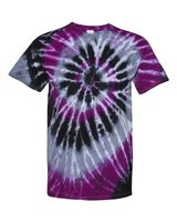Dyenomite Multi-Color Spiral Short Sleeve T-Shirt 200MS