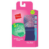 Hanes Best Girls' Soft and Cool Briefs 5-Pack GHBBR5