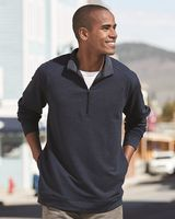 J. America Omega Stretch Terry Quarter-Zip Pullover 8434